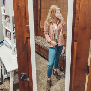 Dusty Pink Denim Jacket